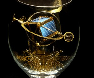 Syzmon Klimek-Artist Of Miniature Mechanical Creations In Wine Glasses