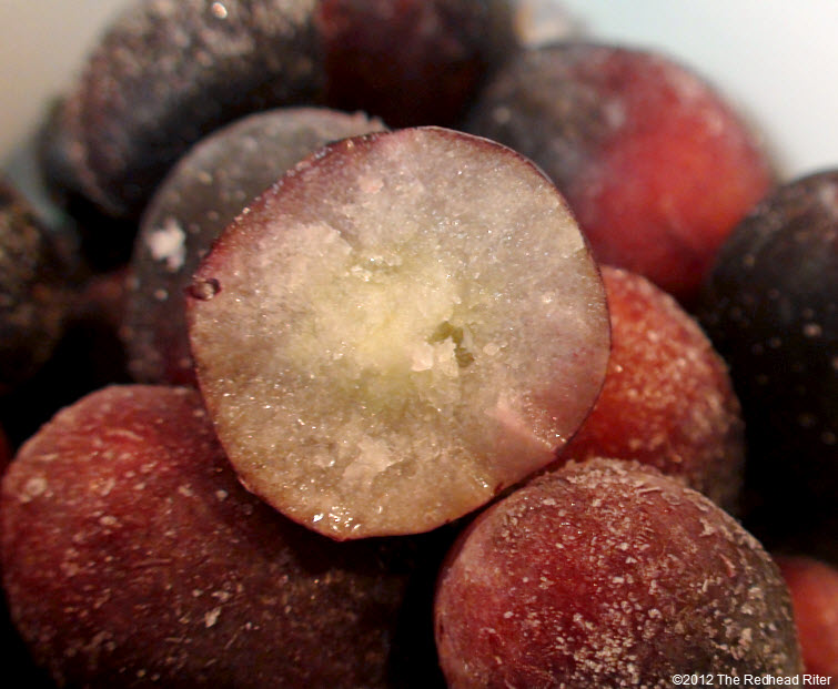 frozen seedless black grapes