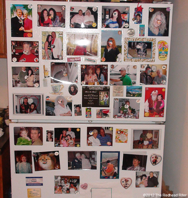 refrigerator photos and magnets
