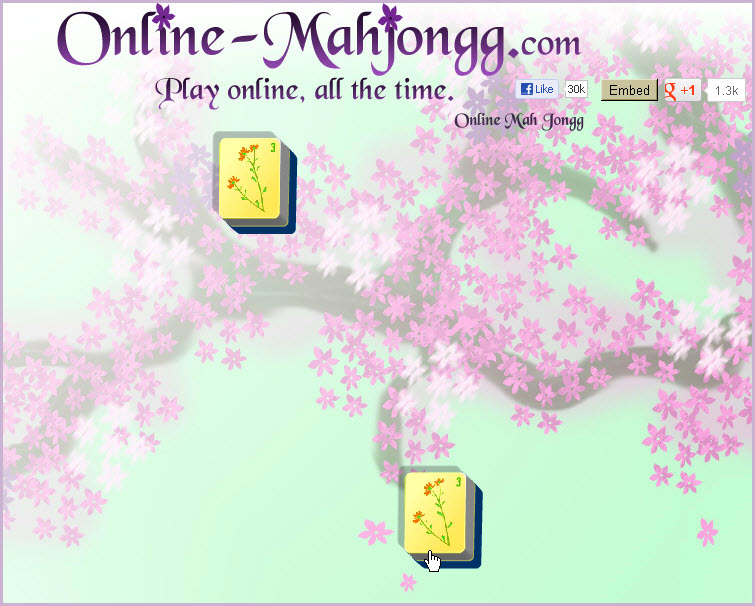 Online Mahjong Game matching tiles 2