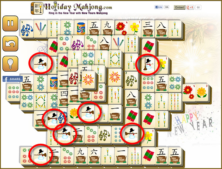 Online Mahjong Game new years