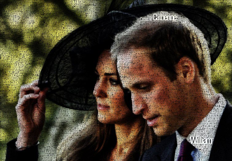 prince william kate word art juan osborne