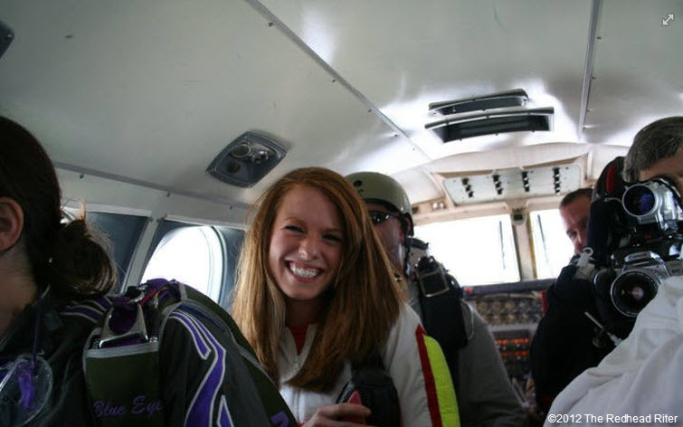 redheaded niece brittany before skydiving