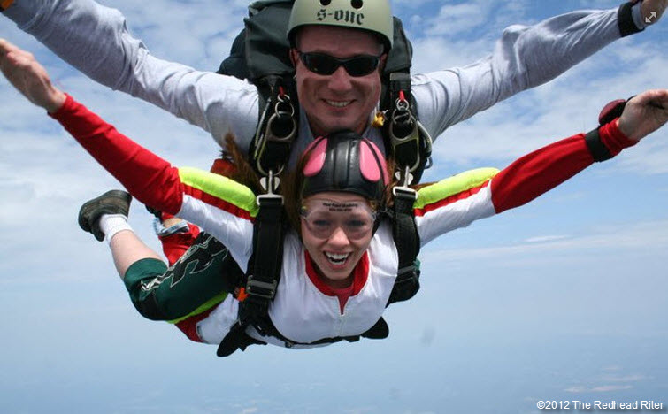 redheaded niece brittany skydiving