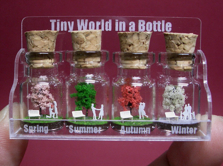 seasons tree in a tiny bottle