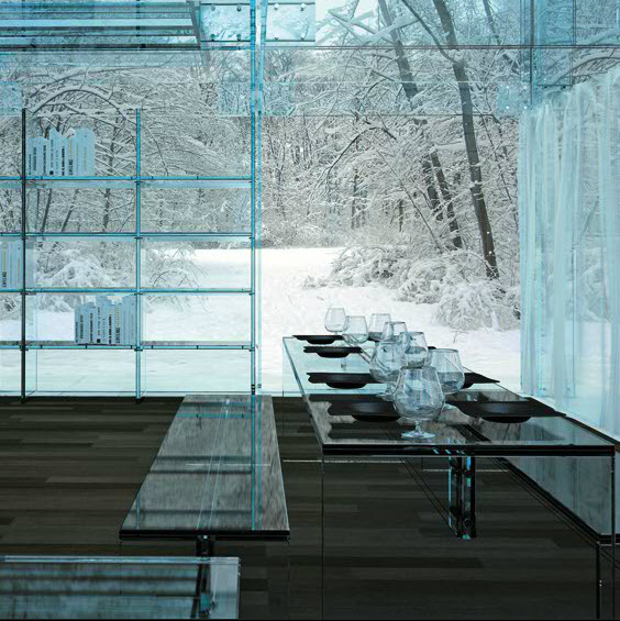 Glass House Designed Santambrogio