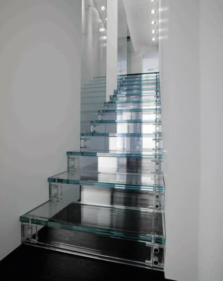 Glass Stairs Designed By Carlo Santambrogio