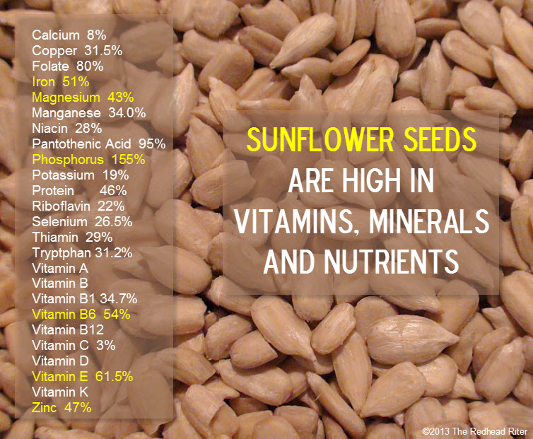 organic sunflower seeds vitamins nutrients