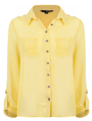 the long sleeve yellow shirt