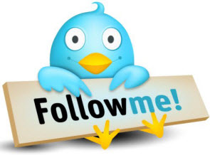 Twitter follow button Follow me