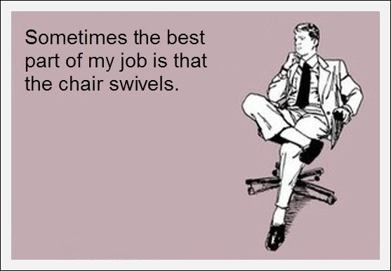 funny card quote work chair