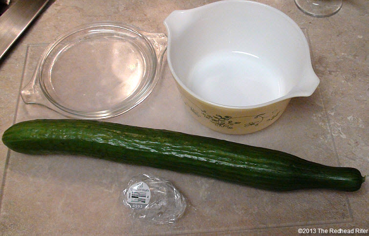 cucumbers unpeeled in vinegar