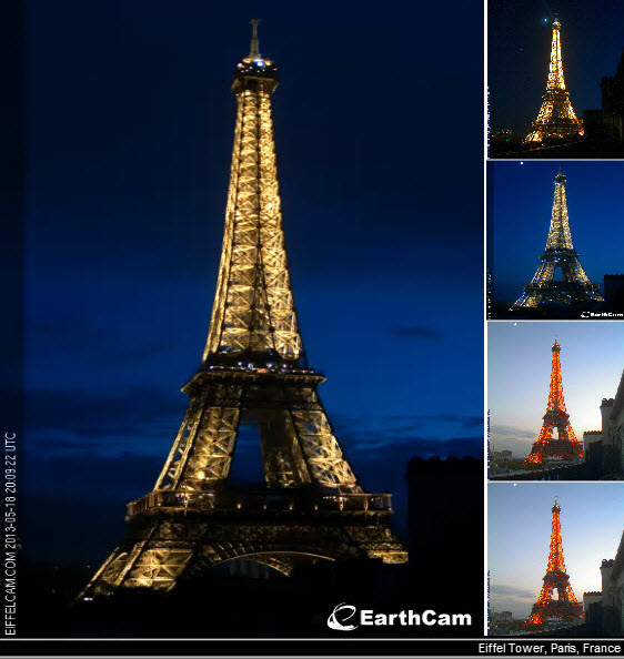 eiffel tower france earthcam webcam