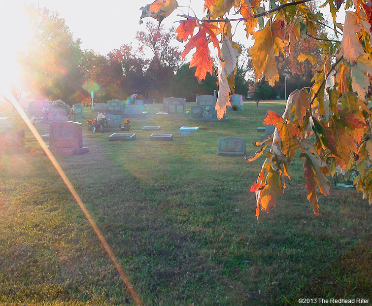 graveyard sunset in fall syria virginia