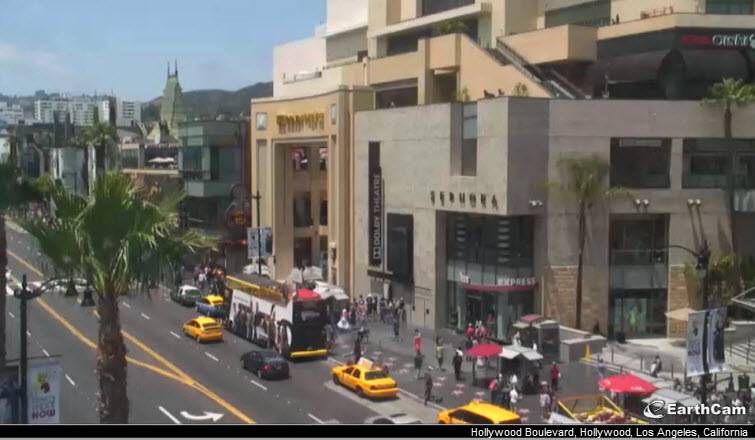 hollywood blvd california earthcam webcam