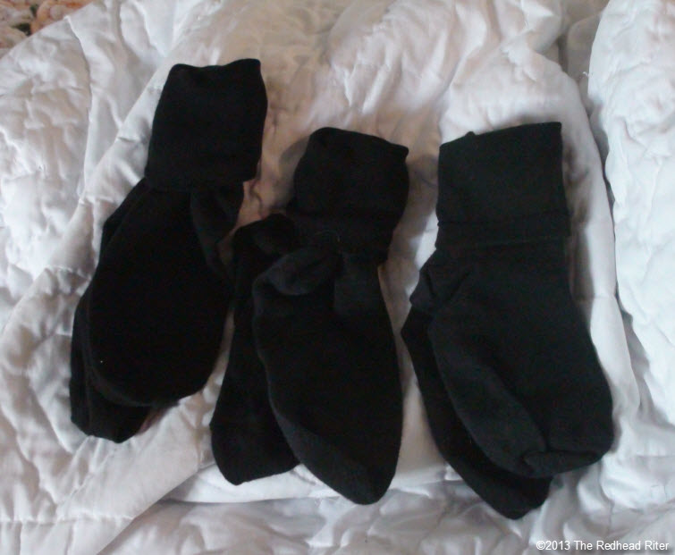 3 pair of black socks