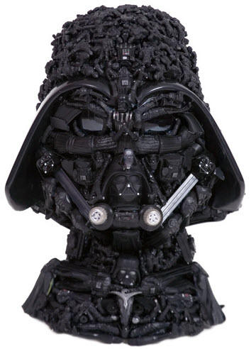dear old darth vadar doll parts sculpture