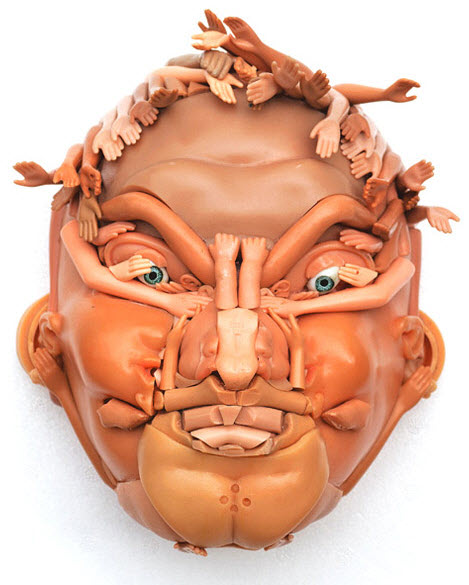 doll parts man  face sculpture 1
