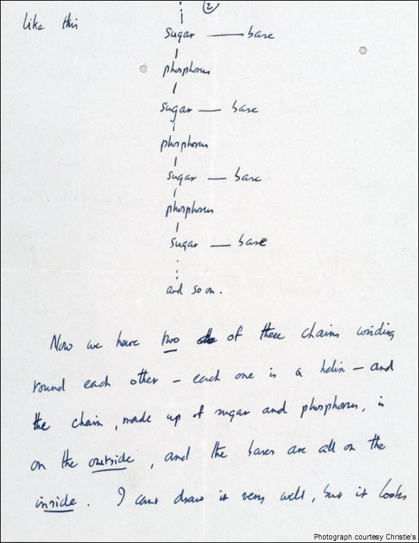 Francis Crick DNA Discovery Letter pg 2