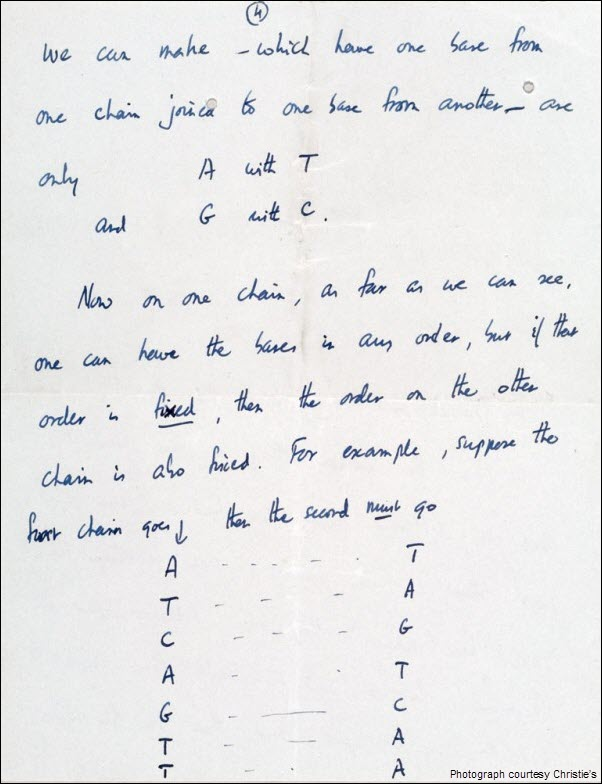 Francis Crick DNA Discovery Letter pg 4