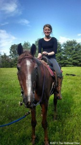 Alyssa Horseback Riding In Richmond, Virginia