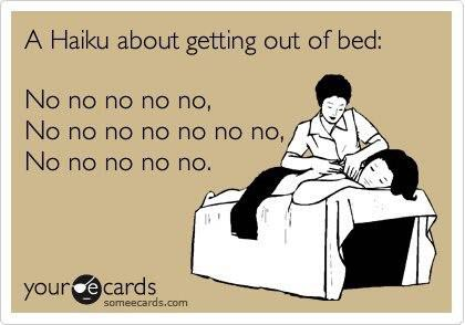 ecards funny a haiku about getting out of bed