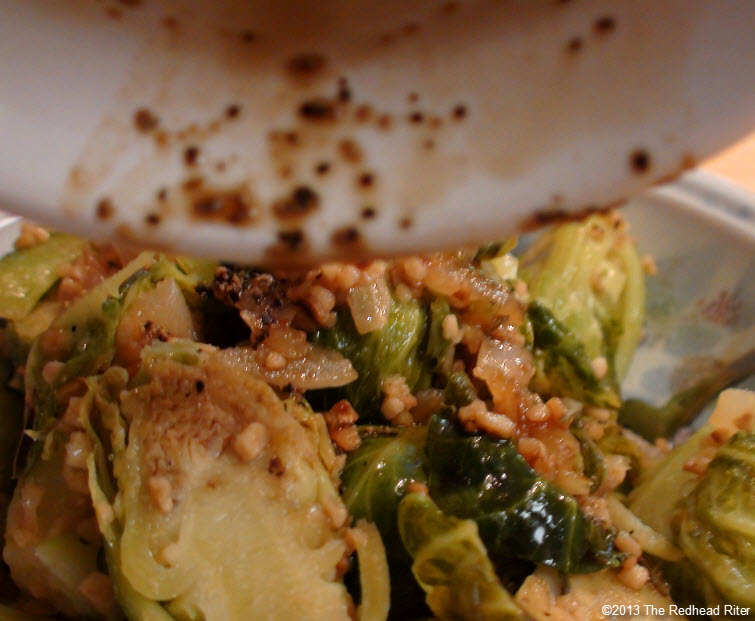 Brussel Sprouts With Drizzled Balsamic Glaze 18