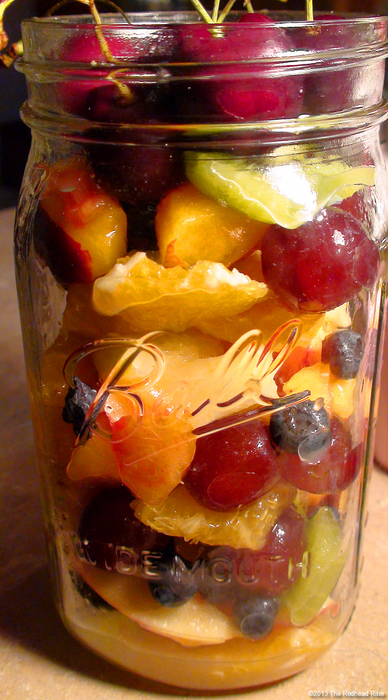 ball jar mason jar fruit filled