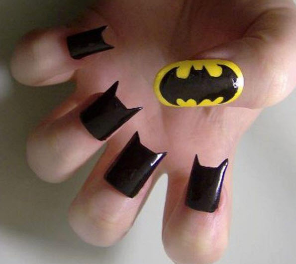 fingernail humor art bat man