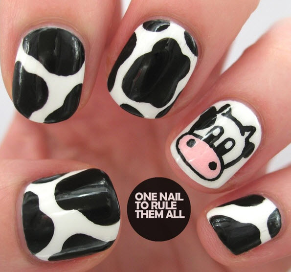 fingernail humor art cow head cow coat