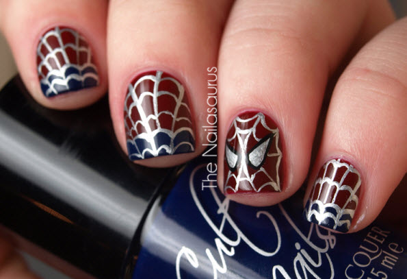 fingernail humor art spider man