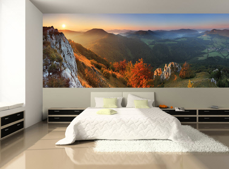 mountain bedroom Eazy Wallz wall photo