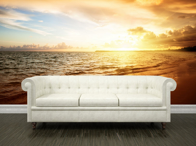 sunset living room Eazy Wallz wall photo