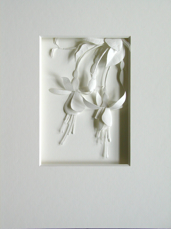 Cheong-ah Hwang's Paper Art Sculptures flower
