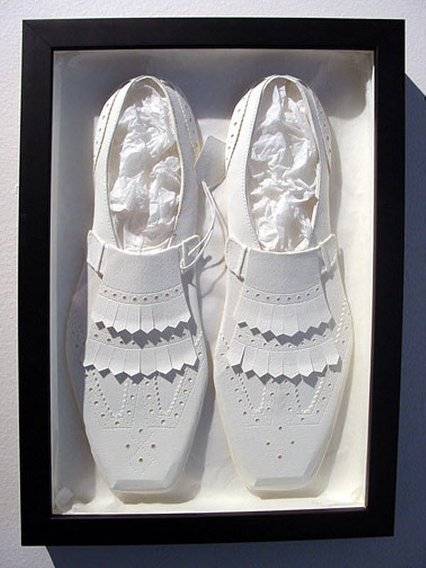 Cheong-ah Hwang's Paper Art Sculptures shoes