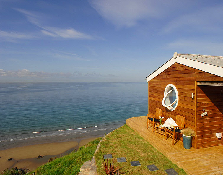 blue ocean beach house The Edge Whitsand Bay, Cornwall