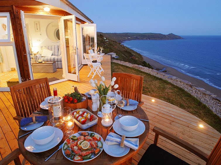ocean dinner The Edge Whitsand Bay, Cornwall