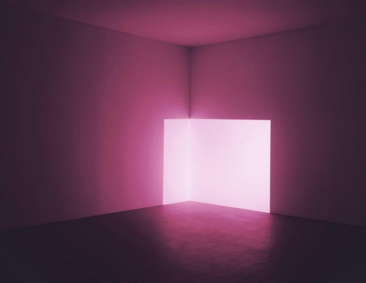 James Turrell light art Ondo Pink