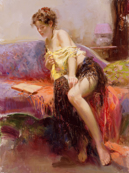 Pino Daeni romantic soft woman After Midnight