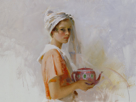 Pino Daeni romantic soft woman The Gift