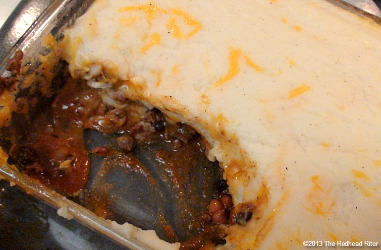 shepherds pie rich tomato sauce
