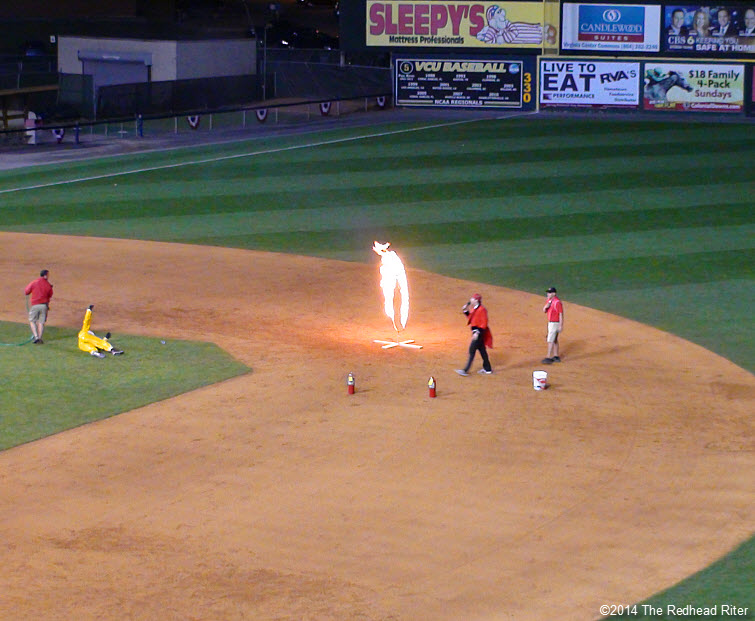 14  flying squirrels opening night fire burning hoop