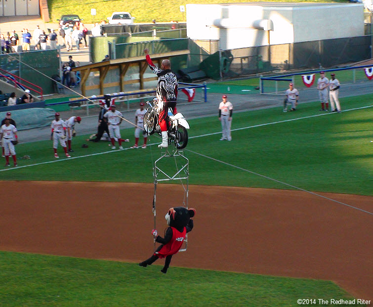 4 flying squirrels opening night high flying motorcycle act