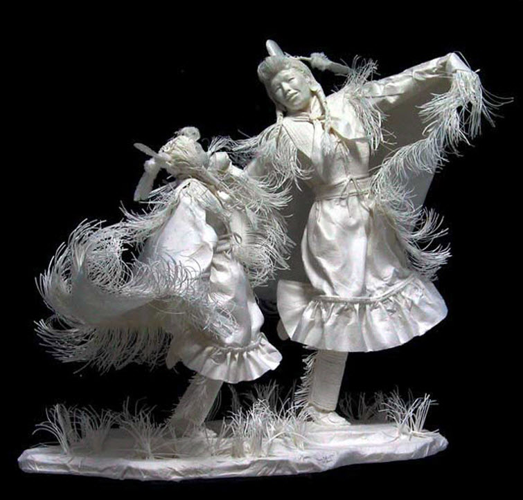 Paper Artists Eckman Cool Cast Paper Art Sculptures Powwow-Butterflys