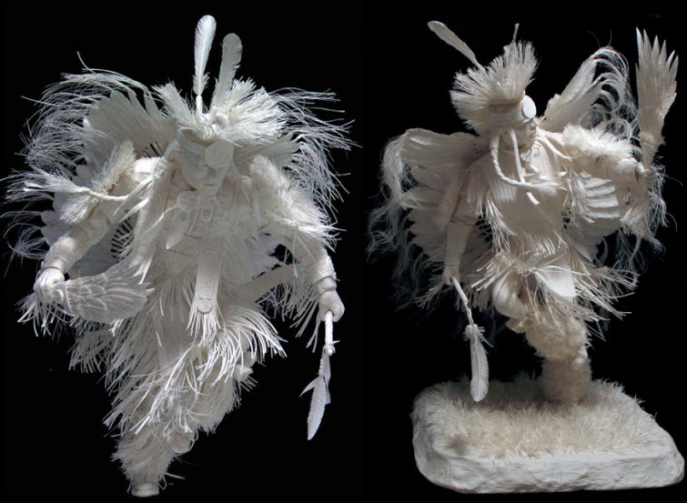Paper Artists Eckman Cool Cast Paper Art Sculptures fancy dancers