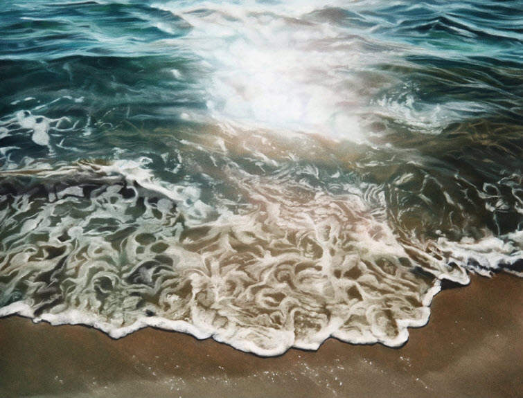 Zaria Forman Israel 5 Water Beach Splash Soft Pastel On Paper