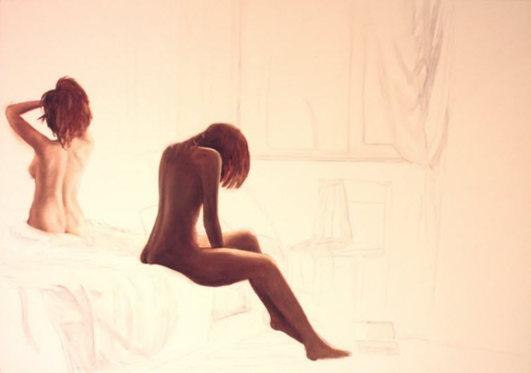 distance_e2b Jean-Pierre LeClercq Painter Female Nudes