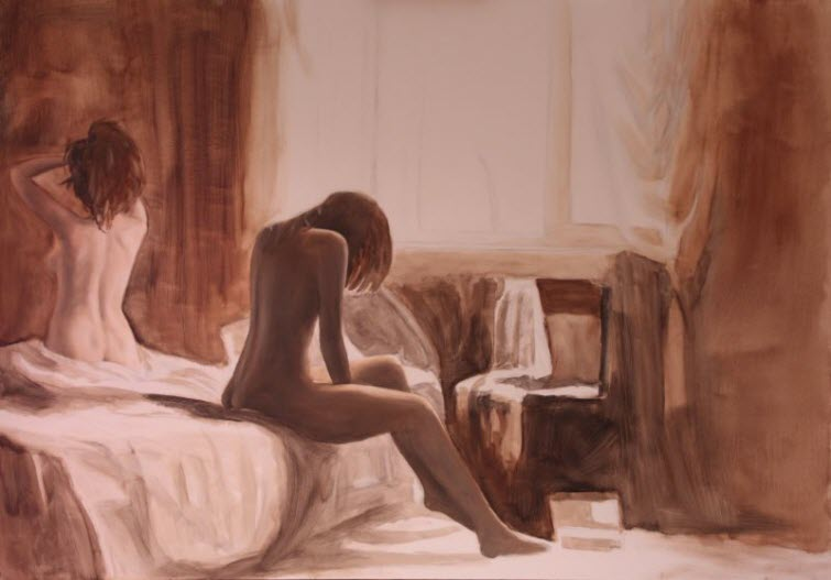 distance_e3 Jean-Pierre LeClercq Painter Female Nudes