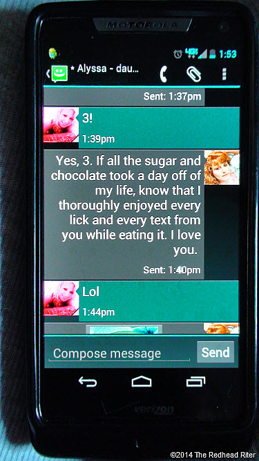 17 Life Messages In Chocolate Texts Redhead Sherry Riter