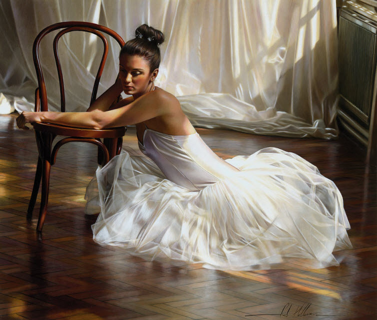 Artist Ron Hefferans Photorealistic Glamorous Oil Paintings ballet